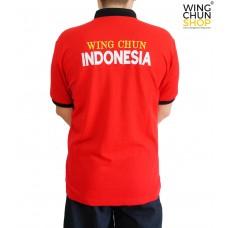 Kaos Polo Wing Chun Merah